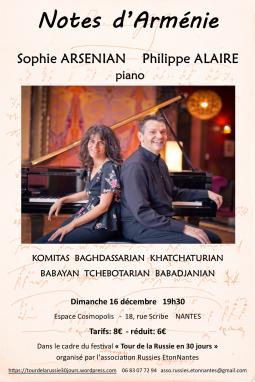 Sophie Armenian et Philippe Alaire